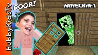 HobbyPig BUILDs 2nd Floor and Doors on His Minecraft House