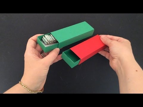 HOW TO MAKE MATCHBOX STYLE GIFT BOX FOR JEWELRY OR BRACELETS