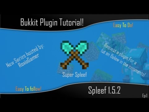 How to set up Super Spleef in a bukkit server!