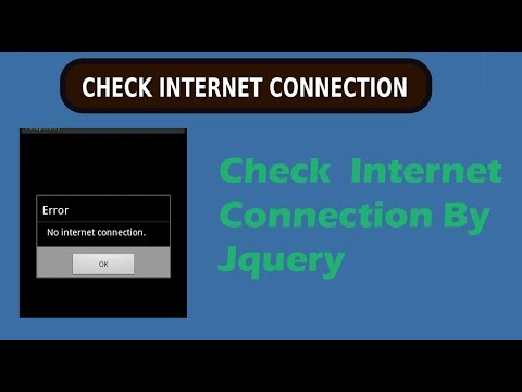 How to Check Internet Connection working or Not By Jquery