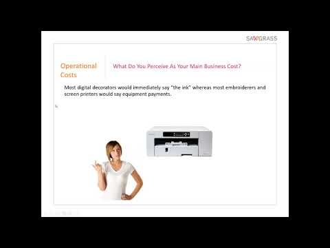 Condé & Sawgrass Webinar - Sublimation Pricing Cost Analysis 5/17/18