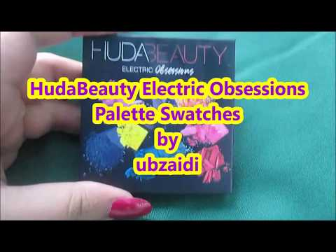 HudaBeauty Electric Obsessions Mini Eye Shadow Palette Swatches