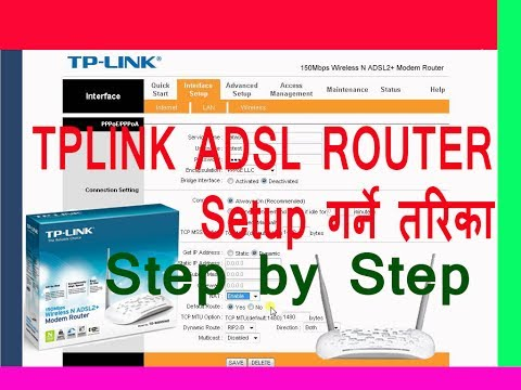 How to setup Tplink ADSL Router