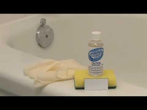 Slippery Bathtubs Resolved  with Invisible Bathtub Mat ®-Senior safety