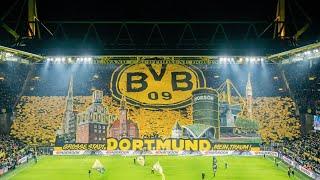 Borussia Dortmund - Eintracht Frankfurt - (4:0) - MOSAICO INCRÍVEL DA TORCIDA DO BVB!