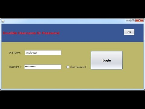 Java - How To Create Login Form With MySQL Database [with source code] Part 1