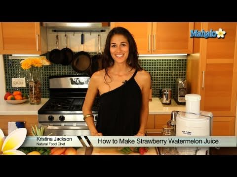 How to Make Strawberry Watermelon Juice