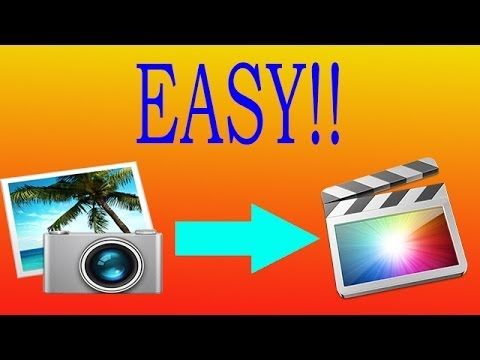 How To Import iPhoto Photos Into Final Cut Pro!