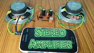 Simplest stereo amplifier | Dual output