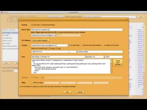 Craigslist Posting Tool - Automatic Craigslist Poster