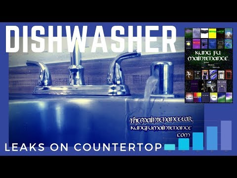 How To Stop Dishwasher Leaking Water  From Sink Counter Top Air Gap When Running Plus Draining