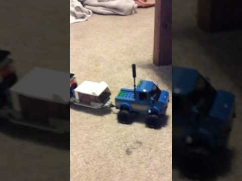 Lego trailer  and  truck