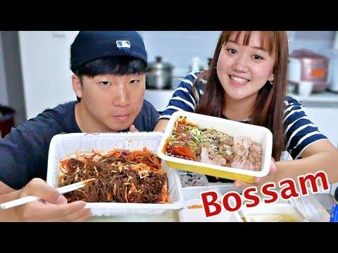 Korean Boiled Pork Belly (Bossam) Mukbang   Eating Show