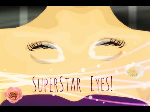 SuperStar eyes on stardoll with StarDesing hair!