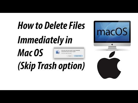 Delete Files Immediately in Mac OS | Skip Trash option (How to shift delete in Mac)
