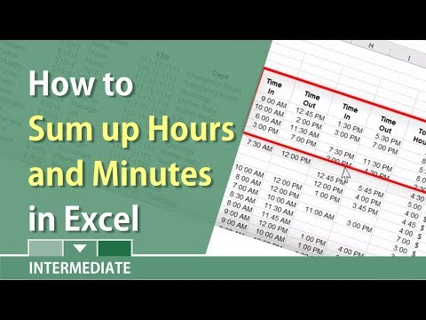 Sum up hours and minutes in Excel by Chris Menard