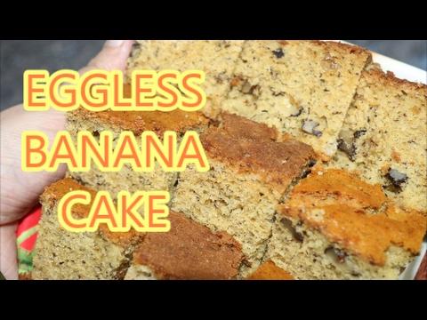BANANA CAKE EGGLESS CAKE IN MICROWAVE CONVECTION EASY RECIPE IN HINDI