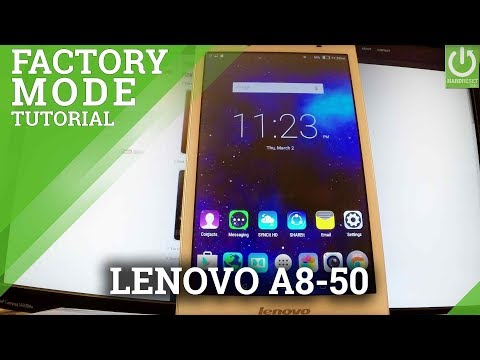 Factory Mode LENOVO A8-50 - Enter / Exit Test Mode