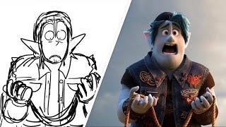 Ian and Barley Cross the Trust Bridge from Onward | Pixar Side-By-Side