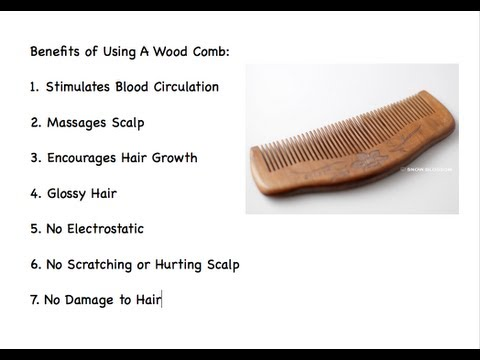 Wood Combs For Healthy Hair