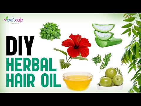Herbal Hair Oil Preparation - Fast Hair Growth and Stop Hair Loss - DIY