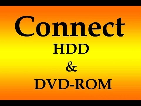 How to Connect 2 (HDD & DVD-ROM) on one IDE Cable - Computer Hardware Video Tutorial