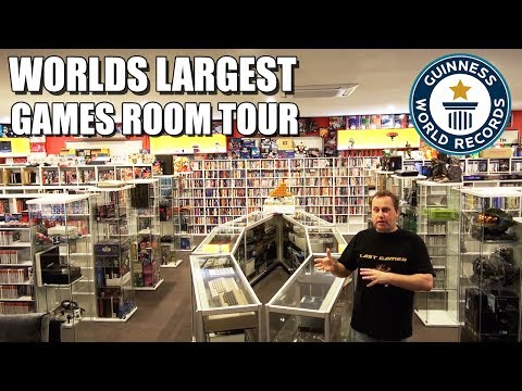 Worlds Largest Games Room Tour 2017