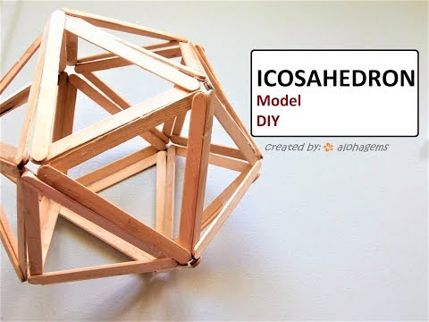 Platonic Solid: Icosahedron Model Popsicle Sticks