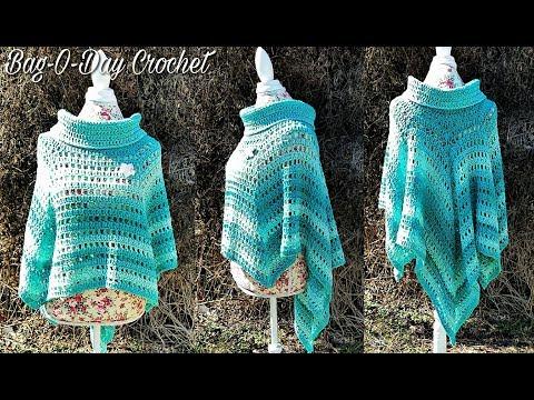 How To Crochet - CROCHET PONCHO | The Ocean Breeze Hi Low Poncho | BAGODAY Crochet Tutorial #467
