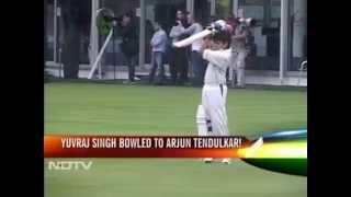 When Yuvi bowled to Arjun Tendulkar at Lord
