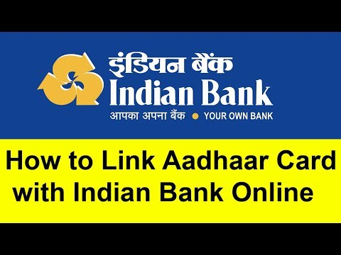 How to Link  Aadhaar Card with Indian Bank online | Tamil Banking