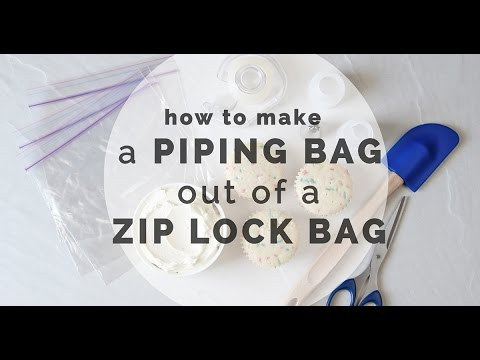 How to Make a Piping Bag Out of Zip Lock Bag | Yummy Ph