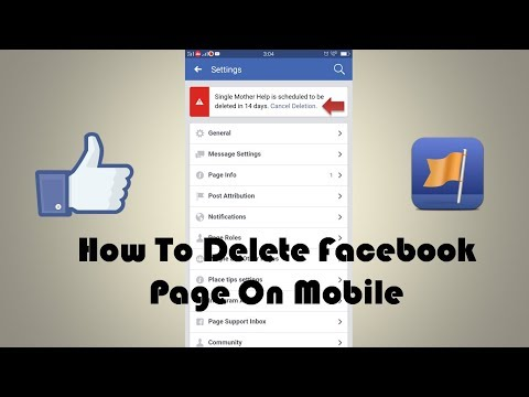 How To Delete Facebook Page 2018 On Mobile | Latest Updates