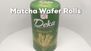 Deka Matcha Green Tea Wafer Rolls