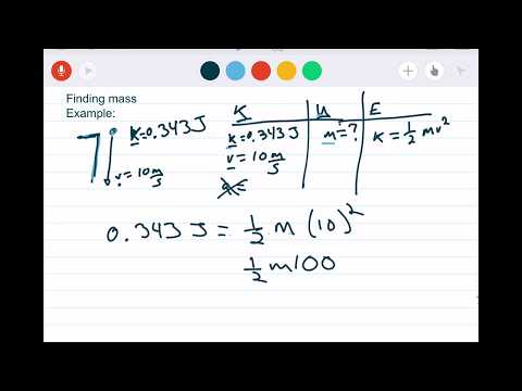 Kinetic Energy:  Solving for Mass and Velocity