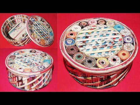 How to make a jewellery box using newspaper & Cardboard DIY Newspaper Craft Idea LifeStyle Designs