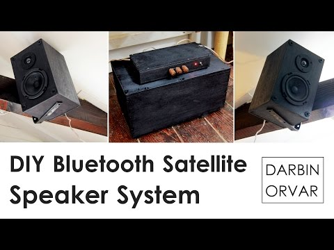 DIY Bluetooth Satellite Speaker System with Subwoofer | Darbin Orvar