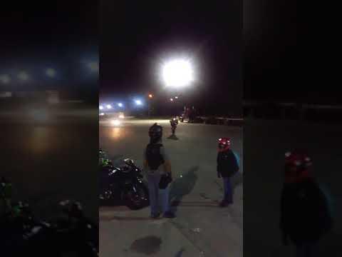 Brampton stunt lot at night