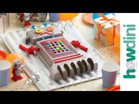 Birthday Cake Ideas: How to Make a Robot Birthday Cake