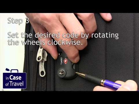 How to change the code on a Samsonite suitcase with zipper lock