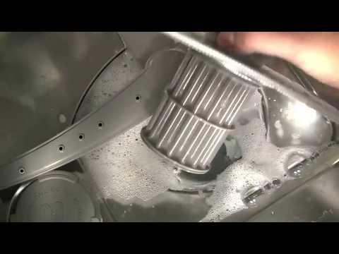 How do I unblock my dishwasher pump?
