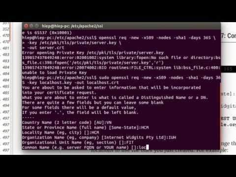 Configure SSL on Apache2 Ubuntu