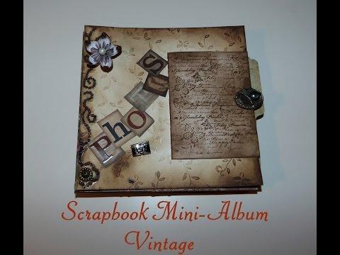 Scrapbook Mini-album im Vintage-style