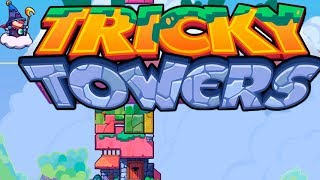 Funny towers. Game review Tricky Towers. Fun game tetris.