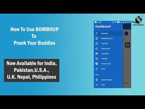 HOW TO USE BOMBITUP SEND BULK SMS AND PRANK YOUR FRIENDS Available for India,USA,Nepal