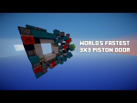 WORLD'S FASTEST 3x3 Piston Door! w/KPkiller1671! (Opens in 0.15 seconds)