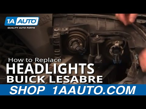 How To Install Repair Replace Headlight and Bulb Buick Lesabre 00-05 1AAuto.com