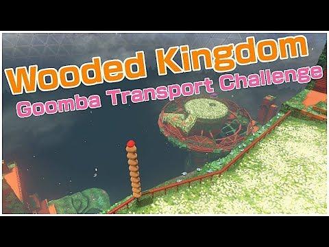 WOODED KINGDOM - GOOMBA TRANSPORT CHALLENGE   Super Mario Odyssey