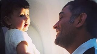 "Ziva Calls Daddy Dhoni By Name  ""Mahi"" MS Dhoni and Ziva Dhoni look"
