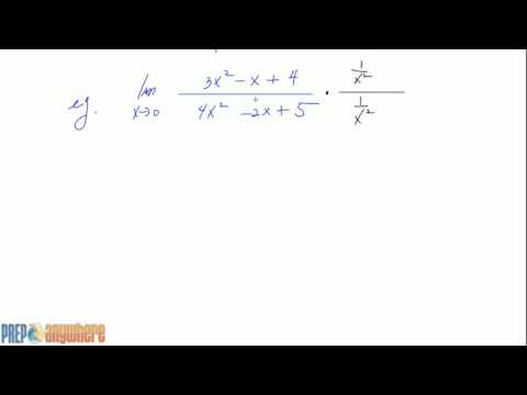 3. Limits at Infinity of Rational expressions of degree 2 at numerator and denominator
